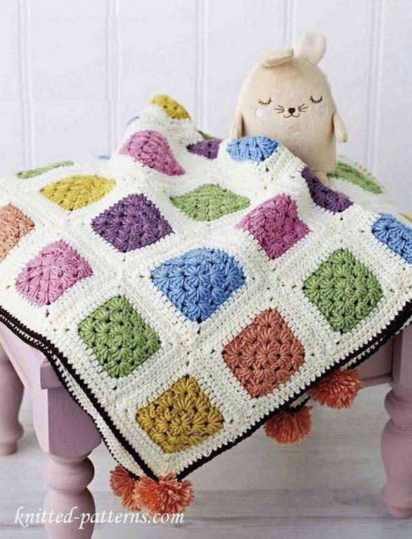 Baby Cot Crochet Blanket.