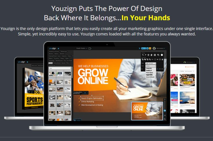 Youzign is the only design platform that lets you easily create all your marketing graphics under one single interface. Simple, yet incredibly easy to use, the product comes loaded with all the features you always wanted. Tired of one-trick ponies? It has ALL the graphics you need in ONE interface.