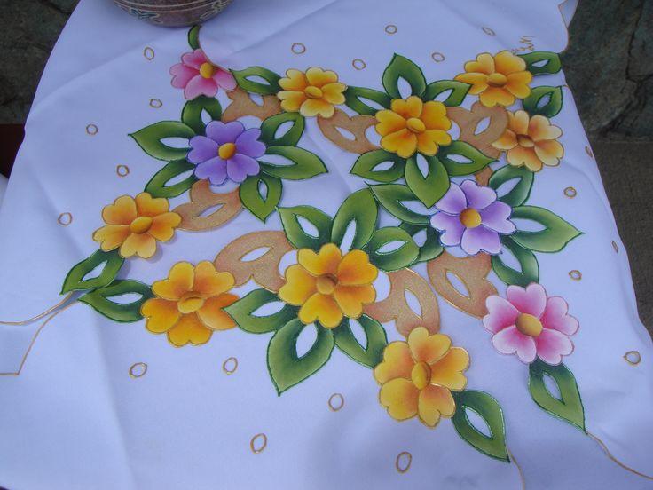91 best images about pintar en tela on pinterest fabric - Paneras de tela ...