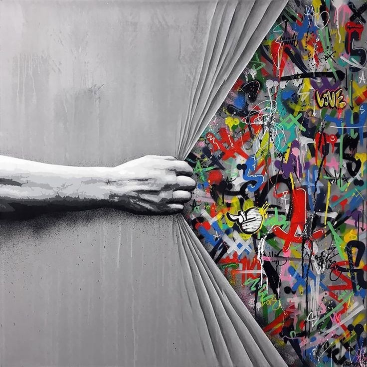 Mashup between Art and StreetArt (Graffiti) – The winning combo of creativity by Martin Whatson   – Graffiti & Streetart