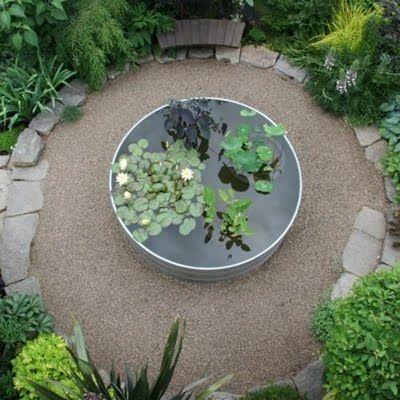 Round Water Trough Water Features Pinterest Gardens