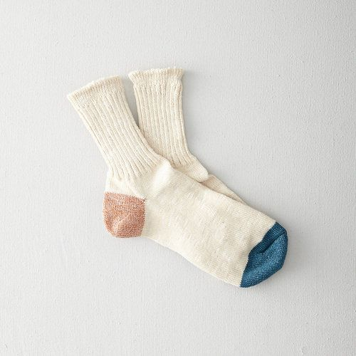 Remember this for idea when making socks.  willhuntgoods:  Hemp Color Panel 3/4 Sock by ANONYMOUS ISM