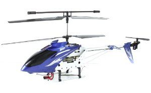 Blue Syma S031G Large 3 Channel Remote Helicopter Gyro by Syma. $34.99. Product size:61x9.5x22.5cm. Full function: up/down, forward/backward, turning left and right, fixed-point hovering. New digital full 3D control remotely with power saving mode. 3 Channel Gyro Helicopter - World famous Syma. Alloy structure, unique design; Electronic fine-tuning, flying more stable. This Syma S031 helicopter is one of the largest in its selection.  It is nearly 2 feet long and super s...
