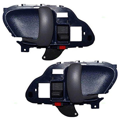 Driver and Passenger Inside Inner Blue Door Handles Replacement for Chevrolet GMC Pickup Truck 15708045 15708046. For product info go to:  https://www.caraccessoriesonlinemarket.com/driver-and-passenger-inside-inner-blue-door-handles-replacement-for-chevrolet-gmc-pickup-truck-15708045-15708046/