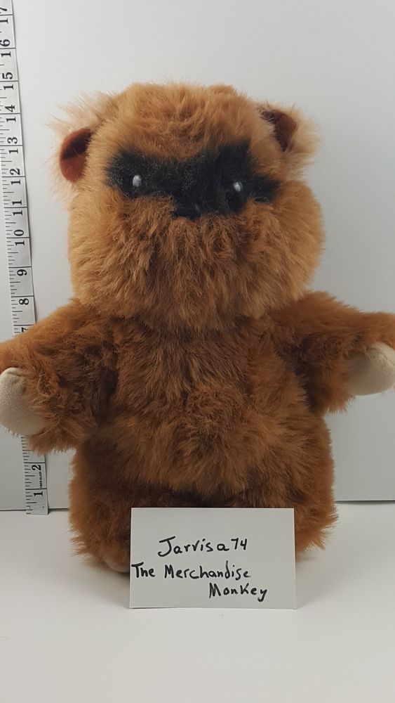 "Kenner 1983 Star Wars VINTAGE WICKET EWOK 15"" Plush STUFFED ANIMAL Toy"