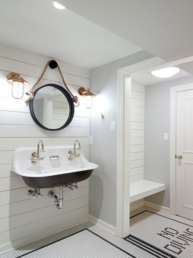 Interior Inspiration Shiplap Walls Beautiful Bathrooms