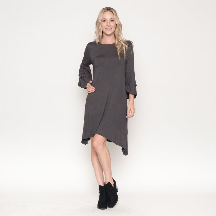 Layered Sleeve Midi Dress