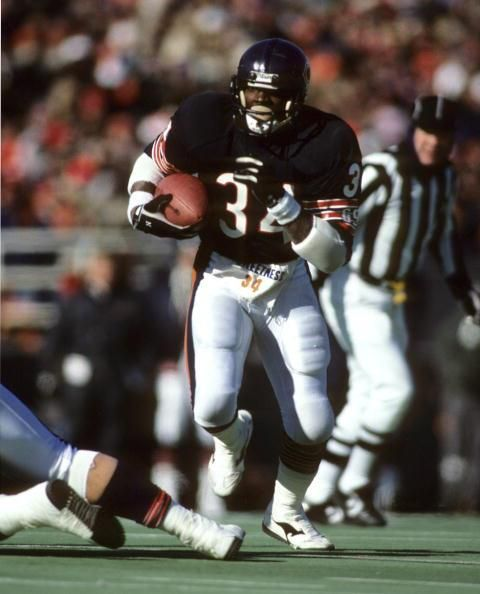 1987 NFC Divisional Playoff Game  January 10, 1988 in Soldier Field:  Hall of Fame running back Walter Payton of the Chicago Bears plays his final game, which was a 21-17 playoff loss to the Washington Redskins.(Getty Images)