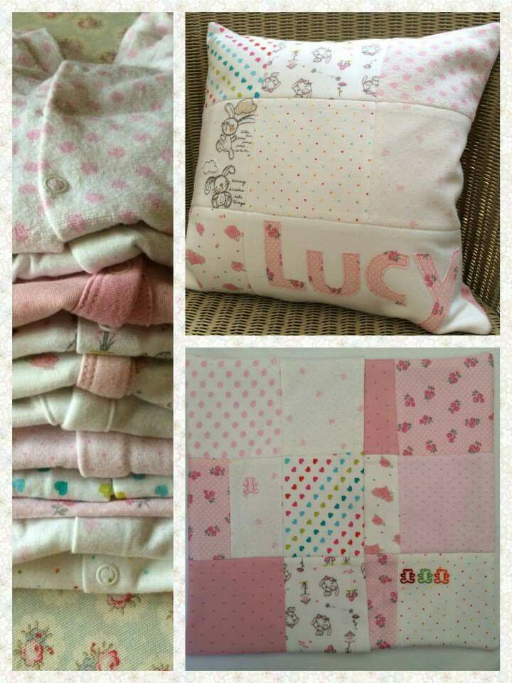 Cushion from newborn outfits