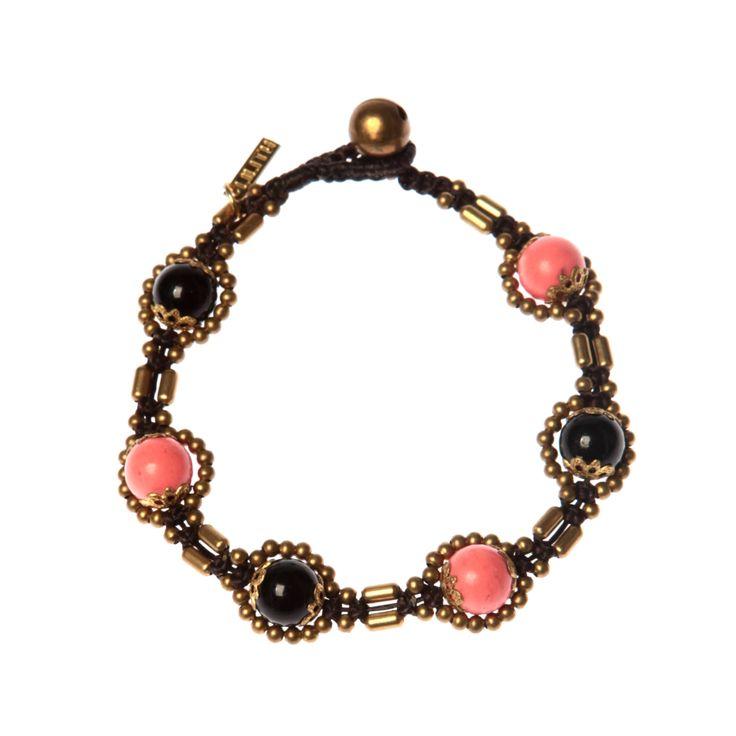 Black Onyx, Pink Coral