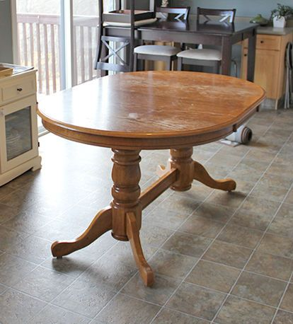 diy refinish an old oak table dining rooms room ideas