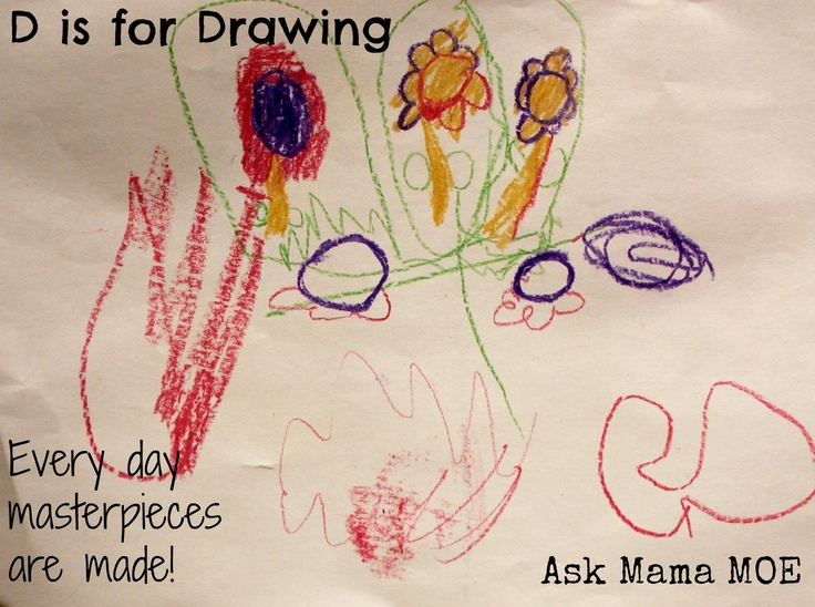 D is for Drawing  Ask Mama MOE - A Blog For All Mamas