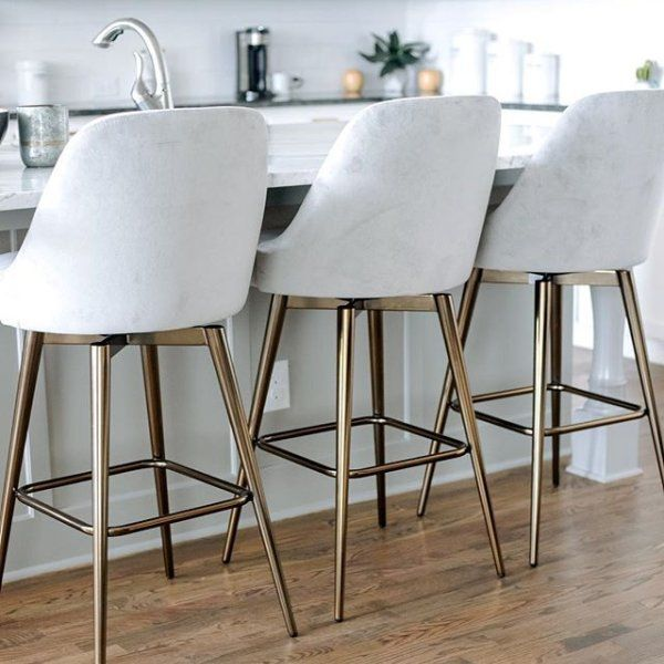 Download Wallpaper Off White Kitchen Counter Stools