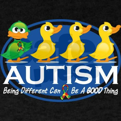 so sweet! love the message. the site cafepress.com has so many autism/asperger awareness items from clothing to mugs to bumper stickers! you can find items to match just about any cause or event :o)