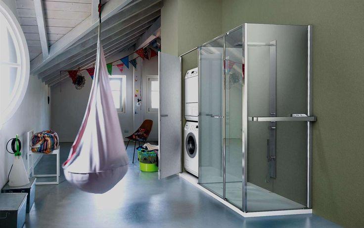 Twin collection by Vismaravetro #spazioutile #doccia