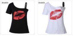 Red Kiss Amabilis short sleeve cold shoulder T-shirt