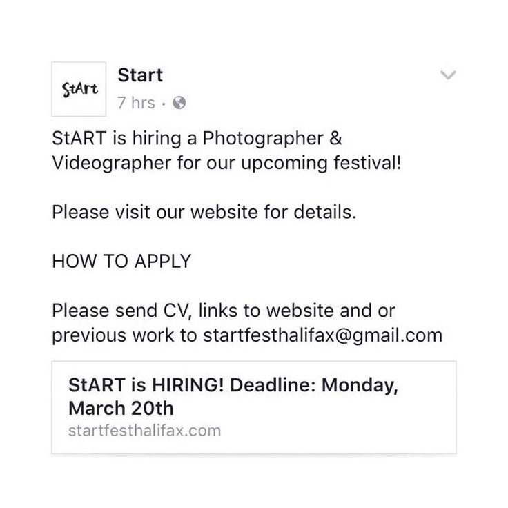 StART is HIRING ... check them out on FB for more details.  StART Festival - Saturday March 25th & Sunday March 26th. . The StART Festival is back for its fourth year! We are thrilled to bring exciting work and performances to you from Halifax's emerging artists. STAY TUNED FOR OUR FULL LIST OF ARTISTS! .  All events are Pay What You Can . - - StART Festival - Opening Night - - Saturday March 25th - - . Come out for a fun filled evening of African and Caribbean vibes. Our opening night will…