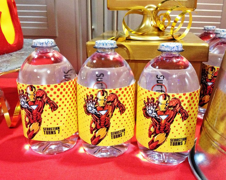Ironman Themed Party Prints Gift Favours Pinterest