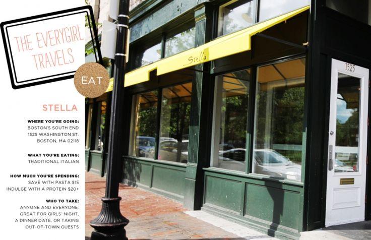 Boston: Stella Restaurant #theeverygirl
