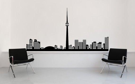 Toronto skyline wall decal. $44.99.
