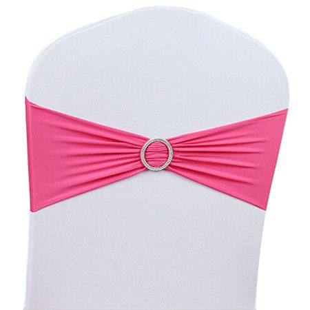 50PCS Stretch Chair Cover Band With Buckle Slider Sashes Bowknot Wedding Hotel Home Wedding Party Christmas Banquet Decorations