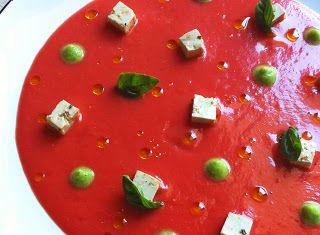 Denny Chef Blog: Gazpacho con tofu marinato e crema di zucchine