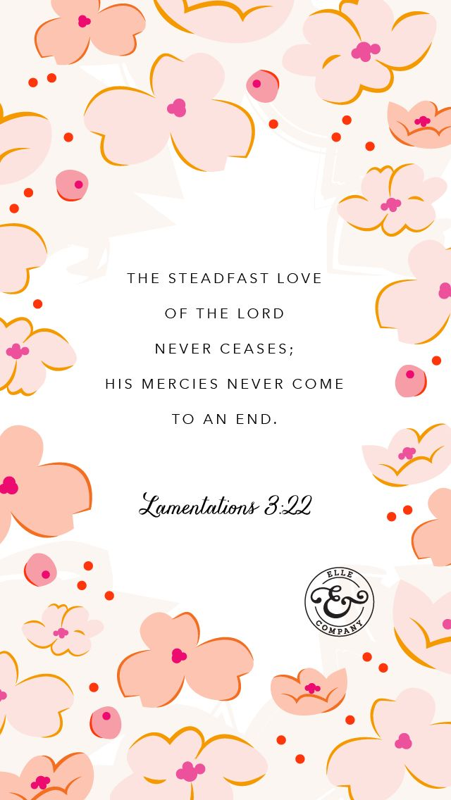 New week, new verse, new wallpaper! // Elle & Company