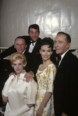 Frank Sinatra, Dean Martin Rosemary Clooney, Katheryn Grant Crosby and Bing Crosby - 60s - probably on one of the Bing Crosby Christmas TV specials.