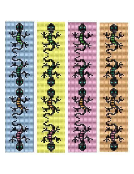 Bead Loom Bracelet Gecko Lizard Play Pattern by MyTreasureIsland