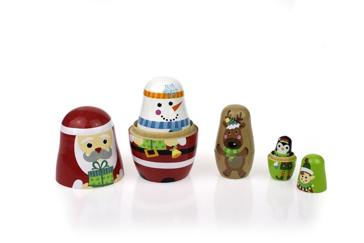 Tooky Toy - Wooden Christmas Nesting Dolls 2  I think I would like these as much as the kids!  #EntropyWishList #PinToWin