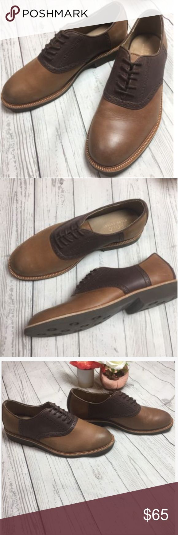 Polo Ralph Lauren Brown Leather Saddle Oxford Shoe POLO Ralph Lauren Size 9.5  Mens brown leather Torrington saddle Oxford shoes in great condition! Polo by Ralph Lauren Shoes Oxfords & Derbys