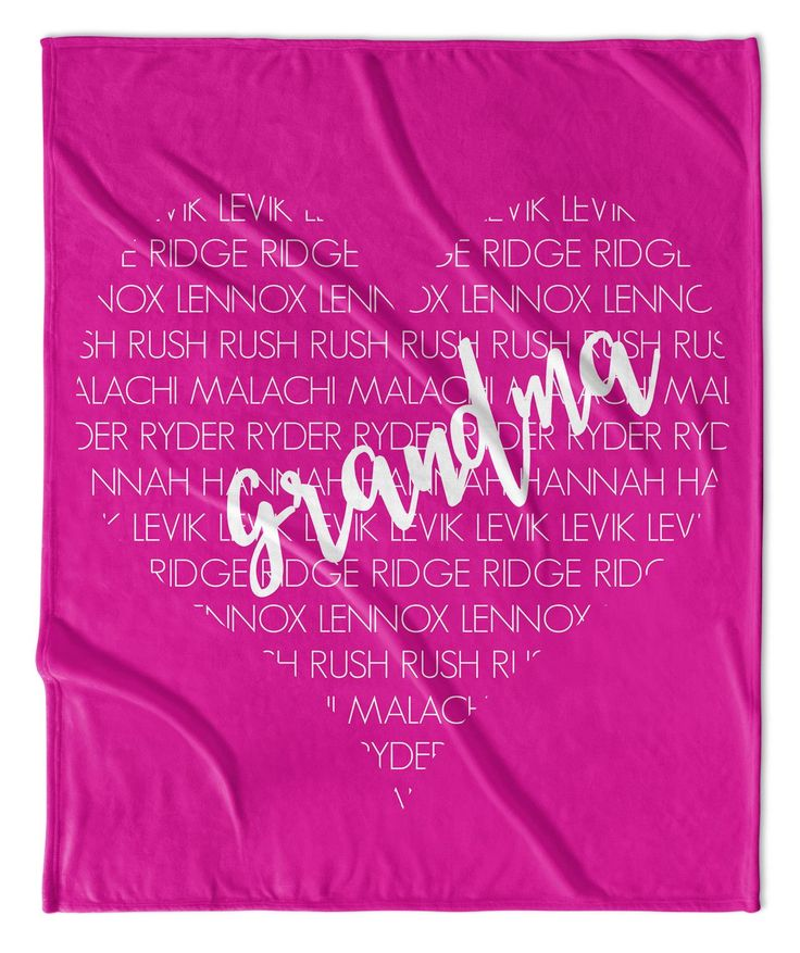 THE PERFECT GIFT FOR GRANDMA, MIMI, NANA, WHATEVER THE KIDS MAY CALL HER....SHE IS SURE TO LOVE THIS PERSONALIZED THROW BLANKET! IT MAY JUST BE THE SOFTEST BLANKET EVER! NO EXAGGERATION HERE. : 2 SIZE
