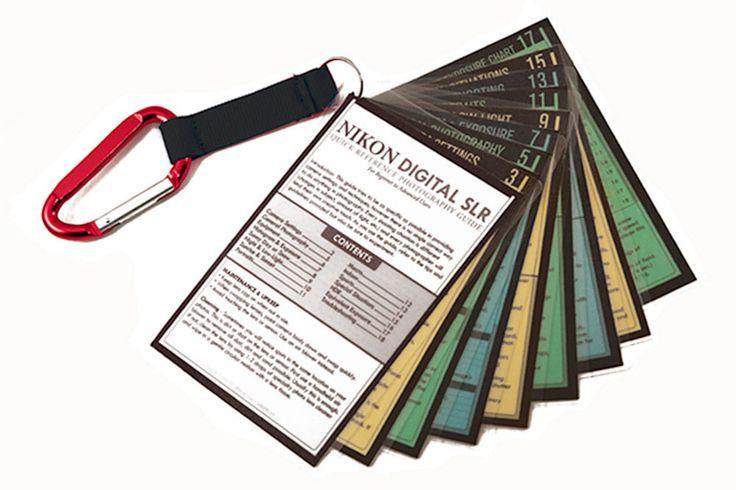 Nikon DSLR Tip Cards / Photo Cheat Sheet D7200 D7100 D7000 D5500 D5300 D5200 Red #forNikon