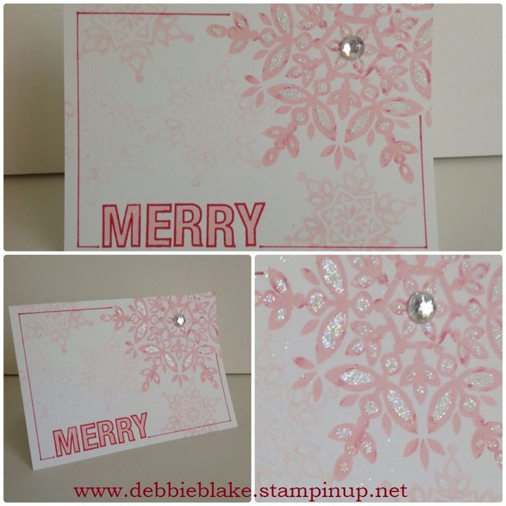 Christmas Card Making Ideas Stampin Up Part - 48: Pink Festive Flurries Debbie Blake Independent Stampinu0027 Up! Demonstrator.  Project IdeasCraft ...