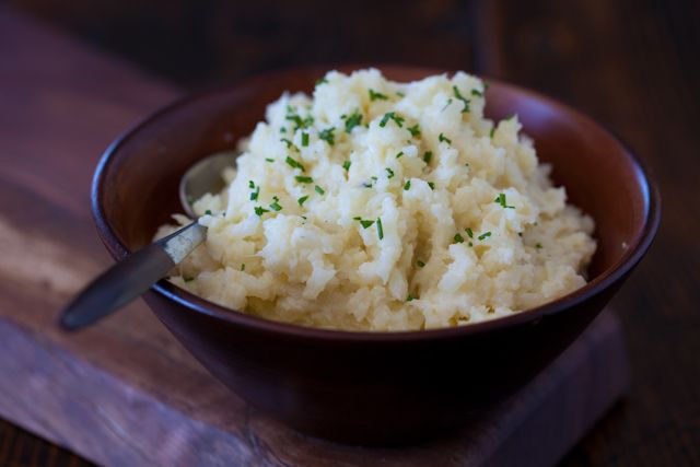 "Cauliflower Mashed ""Potatoes"" Recipe - a little chunky, low carb healthy food