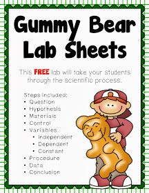 Introduction to the Scientific Method: Investigating Gummy Bears, solutions, mass and length