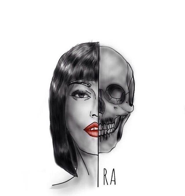 "24 Likes, 5 Comments - Mau Apa? (@raniardhan) on Instagram: ""Sketchbook pro learning result #2 ✌️""   #illustration #tattoo #tattoos #skull #doodle #art"