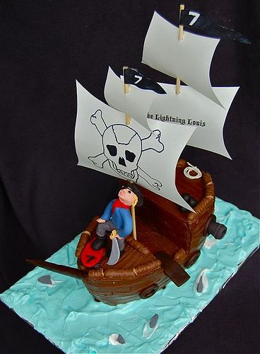 24 best Pirate Theme Cakes images on Pinterest Pirate ships