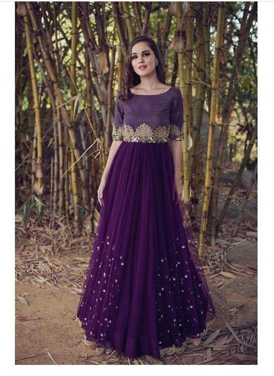 ab9eae40f6b Indo western party wear gown
