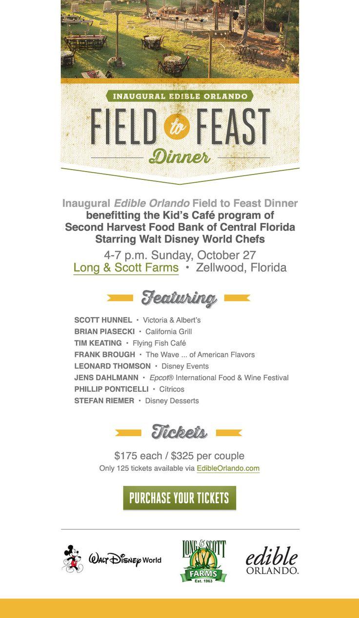 Edible Orlando's Field to Feast Dinner Features Walt Disney World Chefs