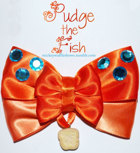 Pudge the fish hair bow disney french and the o 39 jays for Pudge the fish
