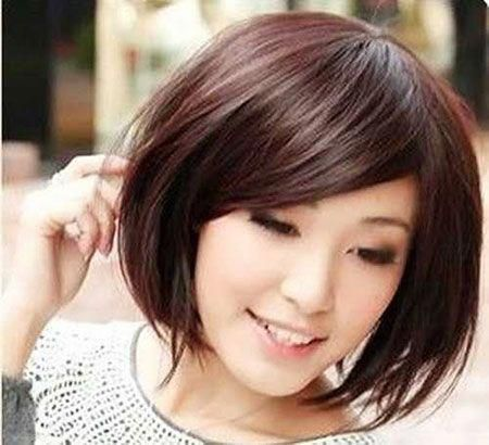 Short Hairtyles with Side Swept Bangs #bobhairstyleswithbangs