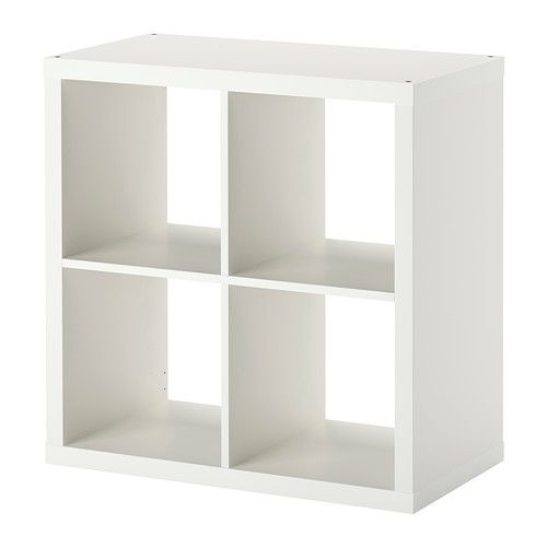 IKEA - KALLAX, Shelving unit, white, , Choose whether you want to hang it on the wall or stand it on the floor.