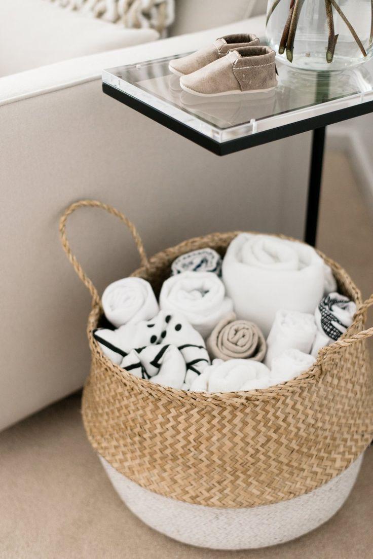 Nursery Reveal Baskets Baby
