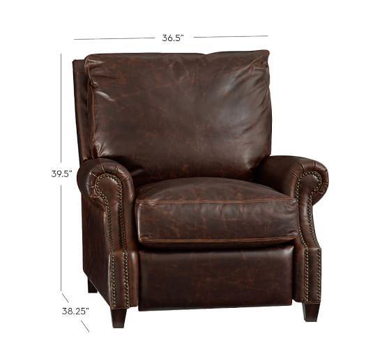 James Leather Recliner | Pottery Barn