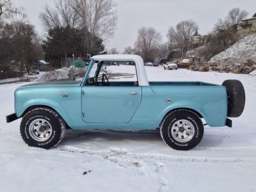 1962 International Harvester Scout Truck. Sucker for that blue.