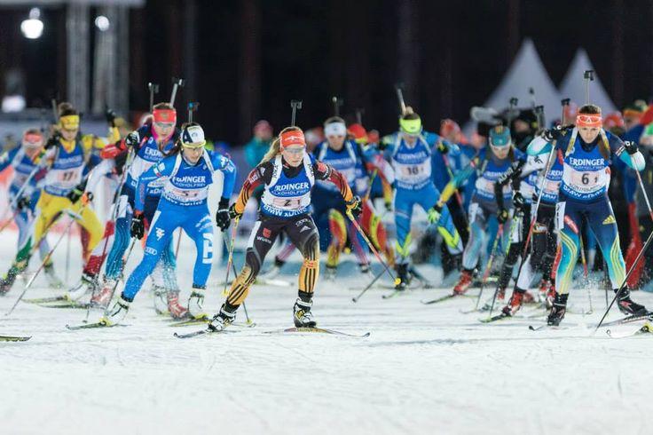 13.03.2015, Kontiolahti, Finland (FIN): Women Relay. Franziska Hildebrand, Iryna Varvynets, Liza Vittozzi.- IBU world championship biathlon, Kontiolahti (FIN),