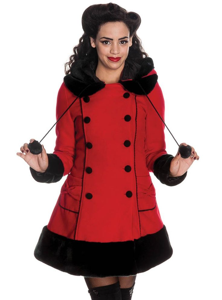 Manteau Rouge Gothique Rockabilly Lolita Hell Bunny
