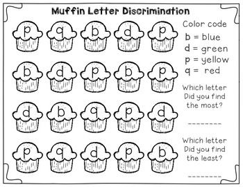 Letter Discrimination Center Freebie! Great for tricky b,