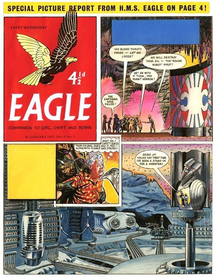 Dan Dare: Rogue Planet - Eagle Volume 8 #3 (Original) art by Frank Hampson at The Illustration Art Gallery